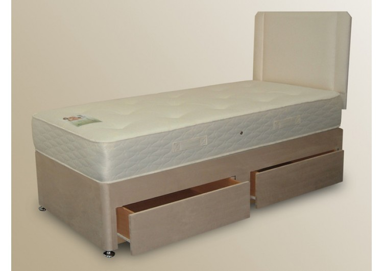Alston 2ft 6in small single divan set from sterling beds for Small single divan