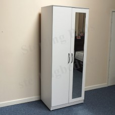 Libra 2 Door Tall Mirror Wardrobe