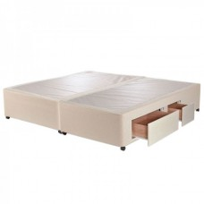 2+2 Continental Drawer 4ft Small Double Divan Base