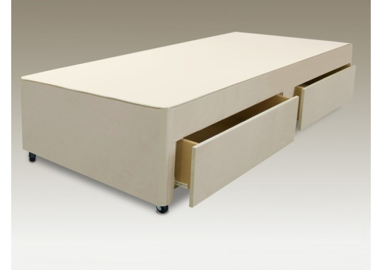 new concept 1bd30 06418 2 Drawer 2ft 6in Small Single Divan Base from Sterling Beds ...