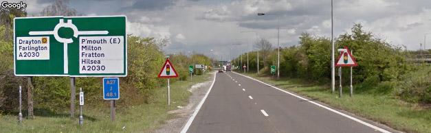 Roundabout 1st left