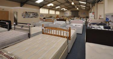 100 beds on display